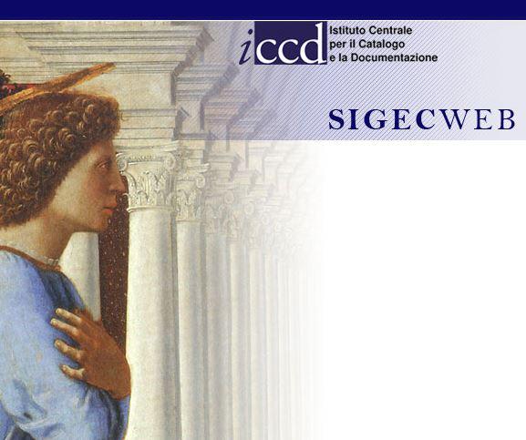 Home page SIGeCweb - www.sigecweb.beniculturali.it