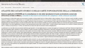 I catasti storici e le mappe topografiche della Lombardia