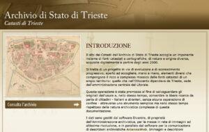 Fonti catastali e cartografiche ottocentesche sul territorio di Trieste