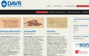 L'archivio digitale del patrimonio documentario dell'Archivio di Stato di Verona